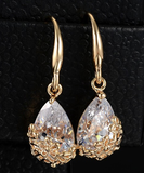 Daisy Overlay Crystal Earrings - Fierce Finds Mobile Boutique  - 3