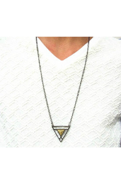 Double Triangle Long Chain - Fierce Finds Mobile Boutique  - 3