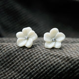 Ivory Flower Studs - Fierce Finds Mobile Boutique  - 5