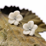 Ivory Flower Studs - Fierce Finds Mobile Boutique  - 11