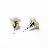 Ivory Flower Studs - Fierce Finds Mobile Boutique  - 8