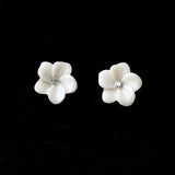 Ivory Flower Studs - Fierce Finds Mobile Boutique  - 7
