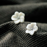 Ivory Flower Studs - Fierce Finds Mobile Boutique  - 4