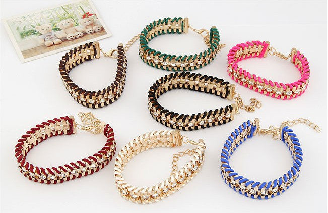 Hand Woven Rope Gold Bracelet - Fierce Finds Mobile Boutique  - 6
