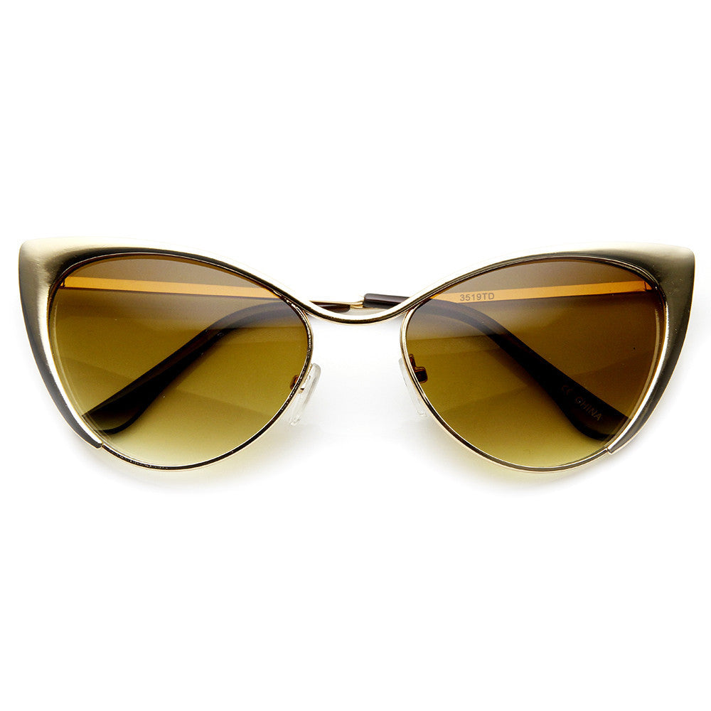 Cat Eye Tinted Sunglasses-Sunglasses-Fierce Finds Mobile Boutique