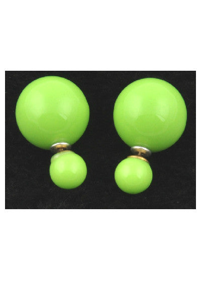 Shiny Double Pearl Studs - Fierce Finds Mobile Boutique  - 3