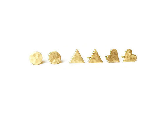 Handcrafted Hammered Studs - Fierce Finds Mobile Boutique  - 5