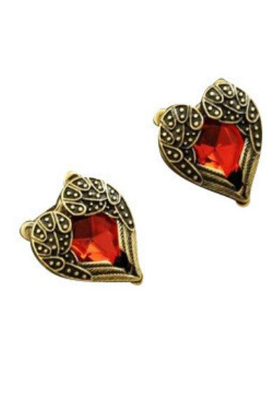 Heart of Gold Studs - Fierce Finds Mobile Boutique  - 3