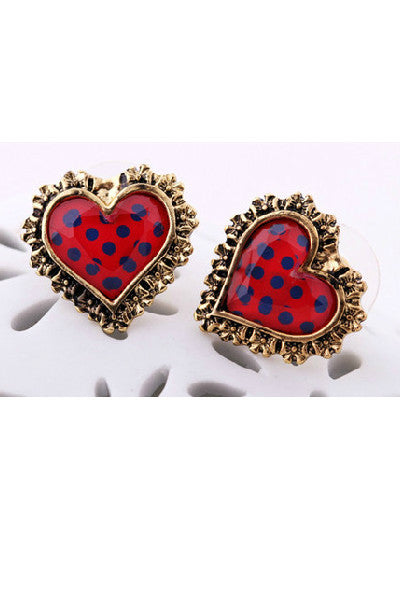 Polka Dot Hearts - Fierce Finds Mobile Boutique  - 3