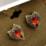 Heart of Gold Studs - Fierce Finds Mobile Boutique  - 4
