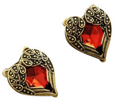 Heart of Gold Studs - Fierce Finds Mobile Boutique  - 2