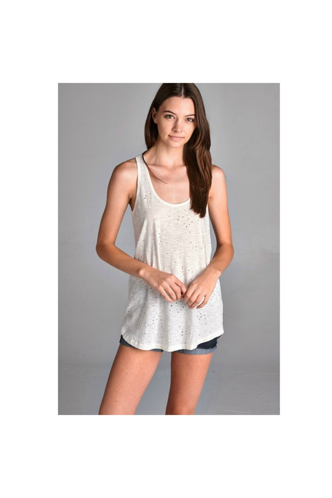 Hole Cute Tank Top-Women - Apparel - Shirts - Sleeveless-Fierce Finds Mobile Boutique