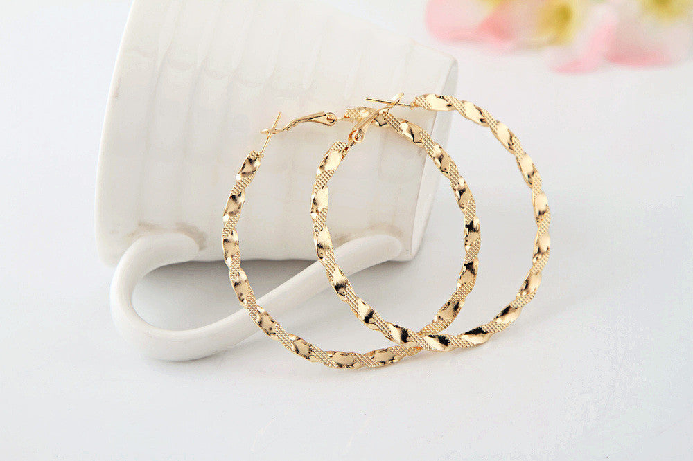 Textured Hoop Earrings - Fierce Finds Mobile Boutique  - 4