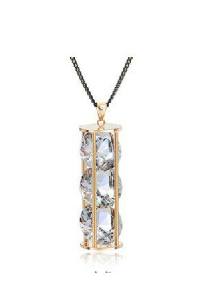 Hourglass of Crystal Necklace - Fierce Finds Mobile Boutique  - 2