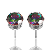 Rainbow Crystal Stud Earrings - Fierce Finds Mobile Boutique  - 4