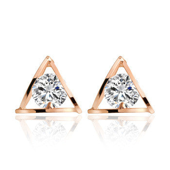 Triangle Crystal Earrings - Fierce Finds Mobile Boutique  - 2