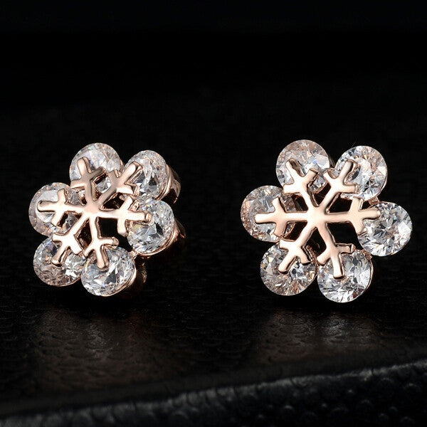 Snowflake Crystal Stud Earrings - Fierce Finds Mobile Boutique  - 5