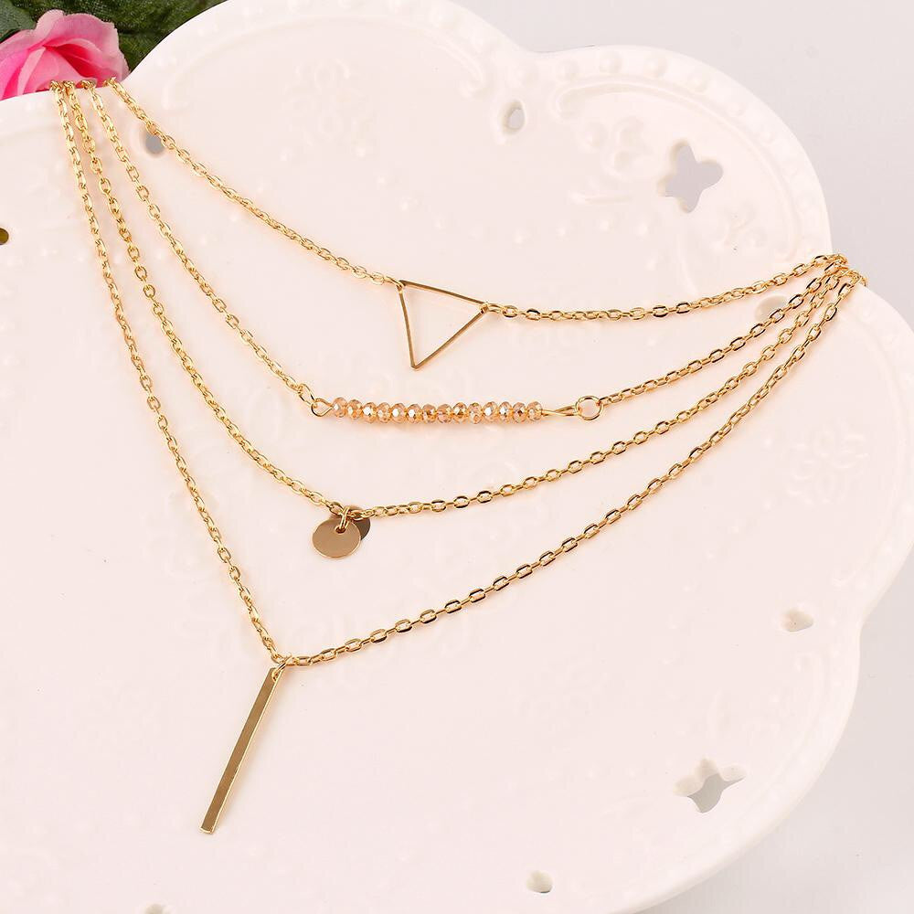 Layered Triangle Dainty Necklace - Fierce Finds Mobile Boutique  - 4