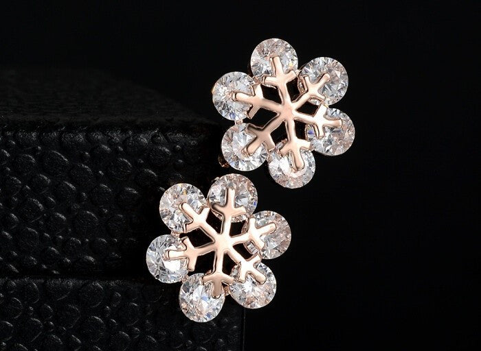 Snowflake Crystal Stud Earrings - Fierce Finds Mobile Boutique  - 7