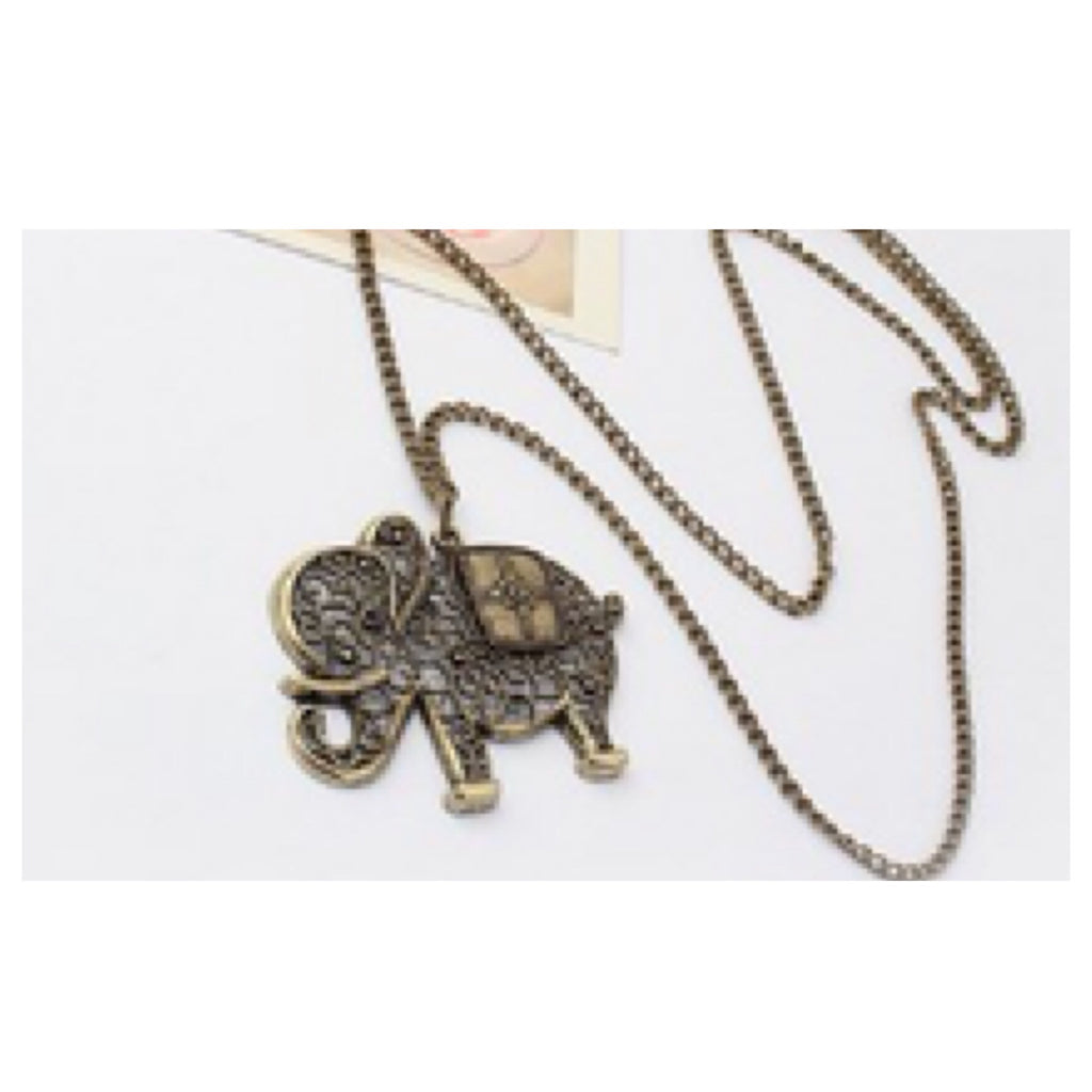 Elephant Long Necklace - Fierce Finds Mobile Boutique  - 3