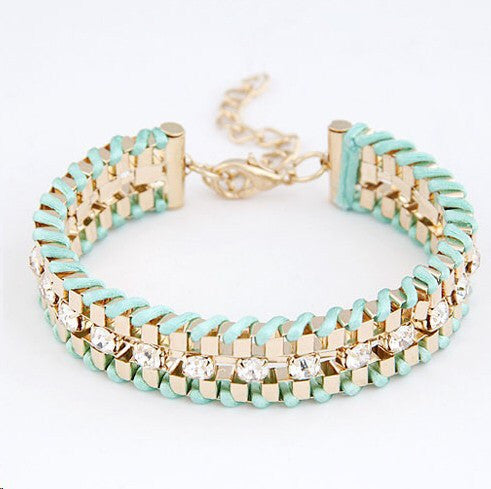 Hand Woven Rope Gold Bracelet - Fierce Finds Mobile Boutique  - 5