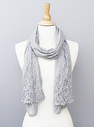 Lace Grey Scarves - Fierce Finds Mobile Boutique  - 2