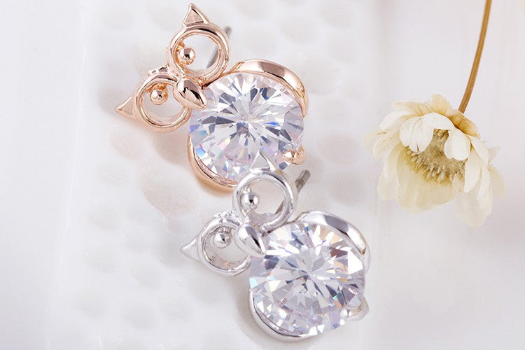 Owl Crystal Studs - Fierce Finds Mobile Boutique  - 3