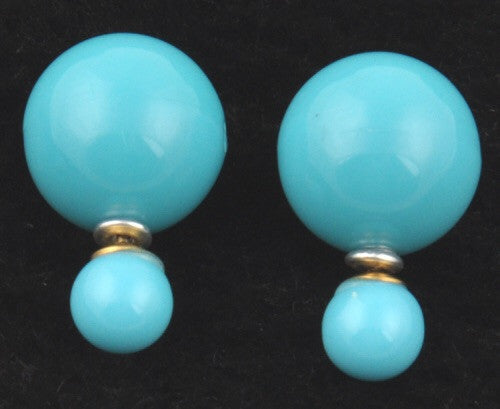 Shiny Double Pearl Studs - Fierce Finds Mobile Boutique  - 2