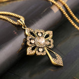 Crystal Cross Necklace - Fierce Finds Mobile Boutique  - 3