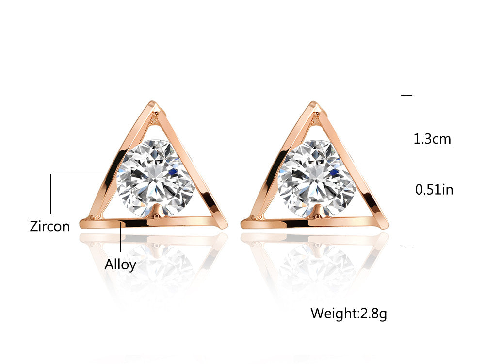 Triangle Crystal Earrings - Fierce Finds Mobile Boutique  - 4