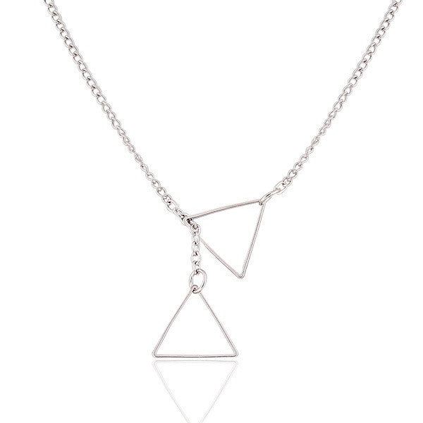Dainty Triangle Necklace - Fierce Finds Mobile Boutique  - 2