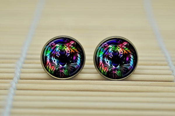 Glass Button Record Stud Earrings - Fierce Finds Mobile Boutique  - 4
