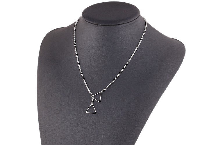 Dainty Triangle Necklace - Fierce Finds Mobile Boutique  - 3