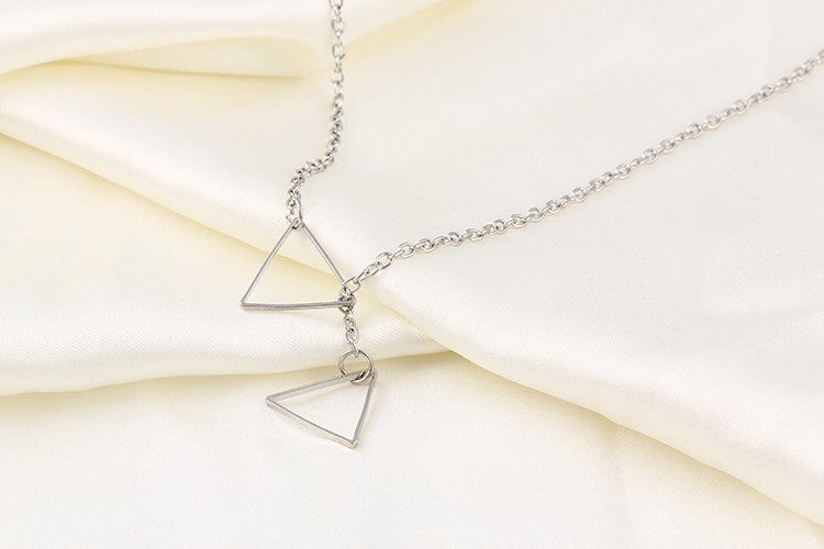 Dainty Triangle Necklace - Fierce Finds Mobile Boutique  - 5