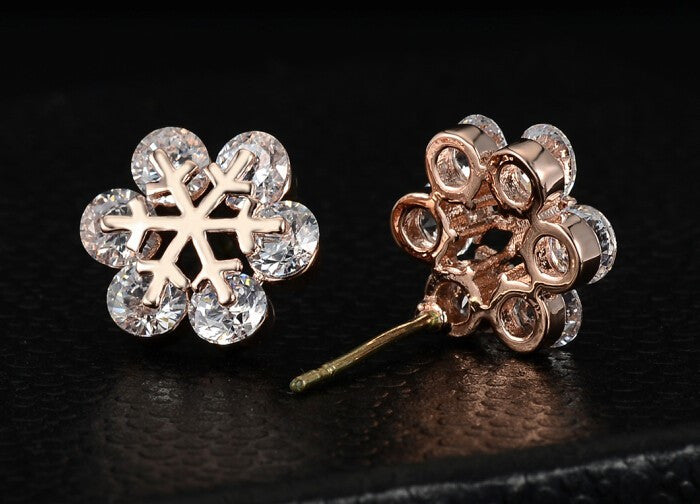 Snowflake Crystal Stud Earrings - Fierce Finds Mobile Boutique  - 6