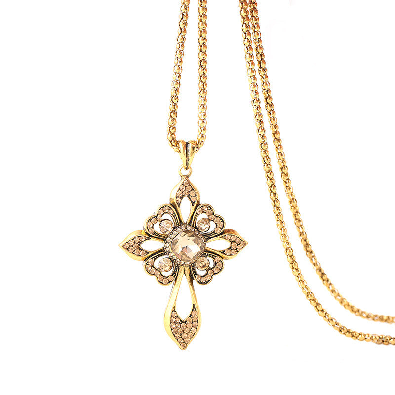Crystal Cross Necklace - Fierce Finds Mobile Boutique  - 2