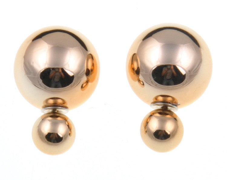 Metallic Double Pearl Studs - Fierce Finds Mobile Boutique  - 5