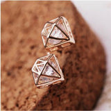 Diamond Stud Earrings - Fierce Finds Mobile Boutique  - 4