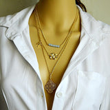 Layered Clover Necklace - Fierce Finds Mobile Boutique  - 2