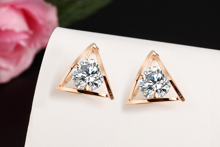 Triangle Crystal Earrings - Fierce Finds Mobile Boutique  - 5