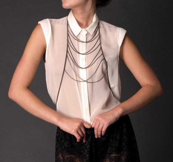 Black Bodychain - Fierce Finds Mobile Boutique  - 3
