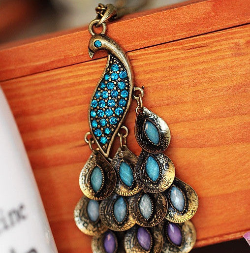 Peacock Necklace - Fierce Finds Mobile Boutique  - 2