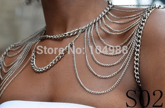 Shoulder Bodychain Shawl - Fierce Finds Mobile Boutique  - 3