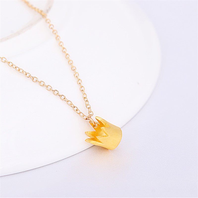 Dainty Crown Necklace - Fierce Finds Mobile Boutique  - 4