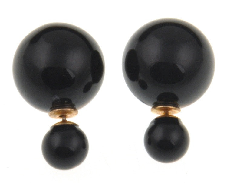 Shiny Double Pearl Studs - Fierce Finds Mobile Boutique  - 5