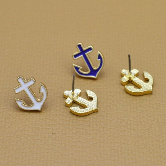 Dainty Anchor Stud Earrings - Fierce Finds Mobile Boutique  - 2