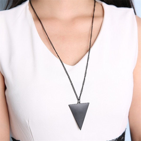 Triangle Long Chain - Fierce Finds Mobile Boutique  - 2