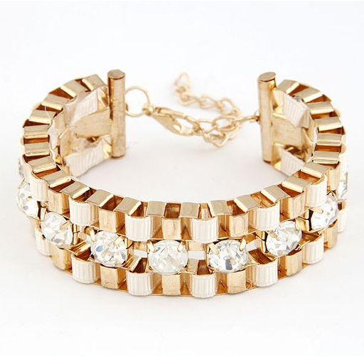 Wide Hand Woven Gold Bracelet - Fierce Finds Mobile Boutique  - 6