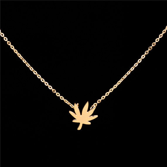 Mary Jane Leaf Necklace - Fierce Finds Mobile Boutique  - 4