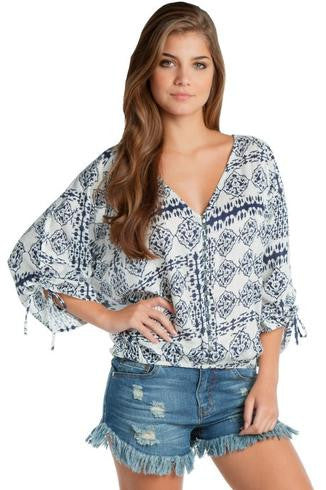 Button Down Print Top - Fierce Finds Mobile Boutique  - 2